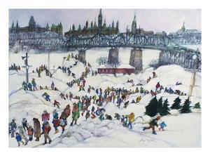 Winterlude, Pirovik - Ottawa-Hull, Canada by Franklin McMahon