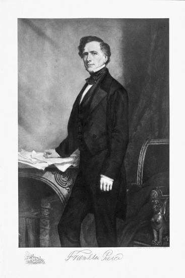 Franklin Pierce, 14th President of the United States of America, (1901)-Unknown-Giclee Print