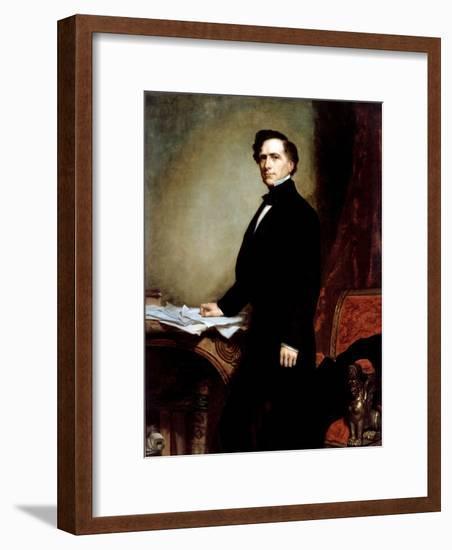 Franklin Pierce-George P.A. Healy-Framed Premium Giclee Print