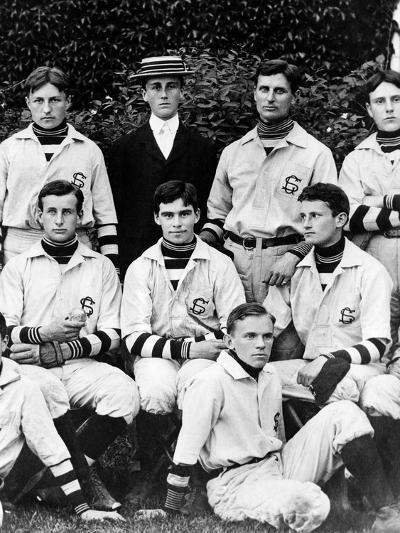 Franklin Roosevelt with His School Baseball Team in Groton, Massachusetts, 1898--Photo