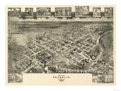 Franklin, Virginia - Panoramic Map-Lantern Press-Art Print