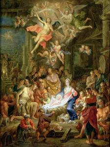The Adoration of the Shepherds, 1741 by Frans Christoph Janneck