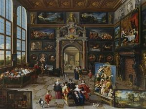 A Collector's Gallery. (Realised with Cornelis De Baellieur) by Frans Francken the Younger