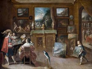 A Visit to the Art Dealer by Frans Francken the Younger