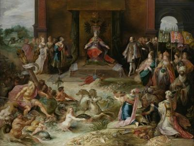 Allegory on the Abdication of Emperor Charles V in Brussels, C.1630-40 by Frans Francken the Younger