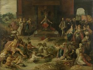 Allegory on the Abdication of Emperor Charles V in Brussels October 1555, 1642 by Frans Francken the Younger