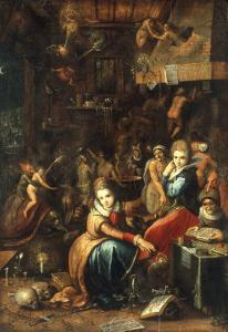 An Alchemist's Kitchen by Frans Francken the Younger