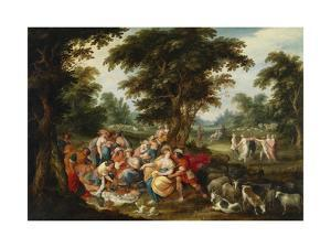 Arcadia. the Golden Age by Frans Francken the Younger