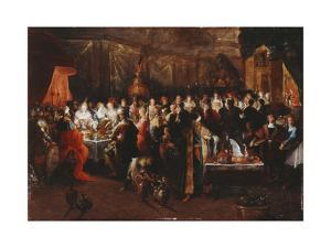 Belshazzar's Feast, C.1610 by Frans Francken the Younger