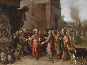 Croesus Showing Solon His Treasures by Frans Francken the Younger