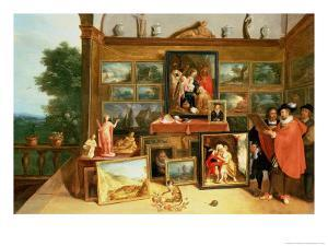 Interior of a Picture Gallery by Frans Francken the Younger