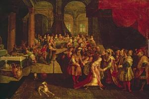 King Ahasuerus Crowns Esther by Frans Francken the Younger