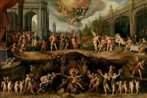 Man Having to Choose Between the Virtues and Vices, 1635 by Frans Francken the Younger