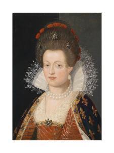 Portrait of Marie De Médici (1575-164), 1605 by Frans Francken the Younger