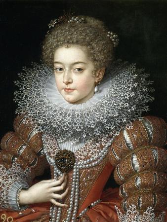 Portrait of Queen Elisabeth of France (1602-164), Queen Consort of Spain
