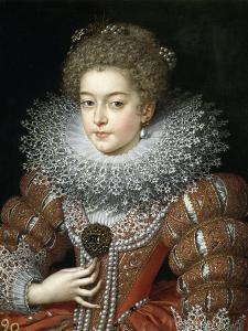 Portrait of Queen Elisabeth of France (1602-164), Queen Consort of Spain by Frans Francken the Younger