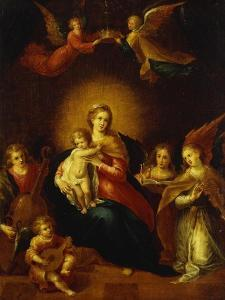 Virgin and Child with Music Making Angels by Frans Francken the Younger