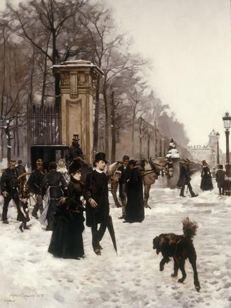 Promenade on a Winter Day, Brussels, 1887
