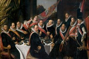 A Banquet of the Officers of the St. George Militia Company, 1616 by Frans Hals