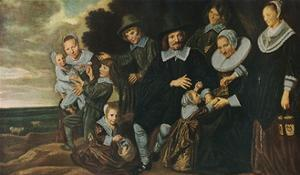 'A Family Group in a Landscape', 1647-50 by Frans Hals