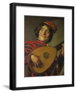 A Jester Playing the Lute, 1625 by Frans Hals