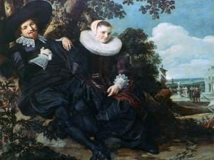 Married Couple in a Garden, C1622 by Frans Hals