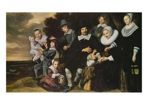 Portrait of a 12-Member Family by Frans Hals