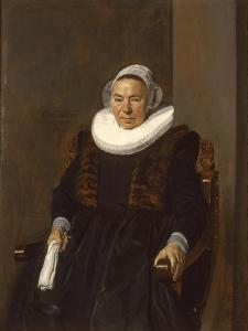 Portrait of an Elderly Woman, Traditionally Called Mevrouw Bodolphe, 1643 by Frans Hals