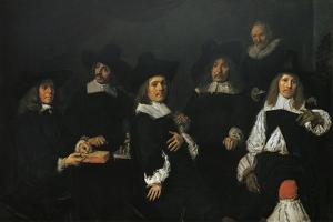 Regents of Old Men's Almshouse of Harlem, 1664 by Frans Hals