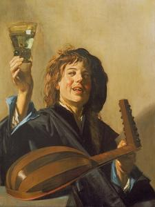The Merry Lute Player, C.1624-28 by Frans Hals