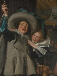 Young Man and Woman in an inn, 1623 by Frans Hals