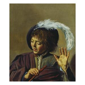 Young Singer with Flute, about 1623/25 by Frans Hals