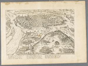 Siège de Rouen par le maréchal de Biron, 8 octobre 1591 by Frans Hogenberg