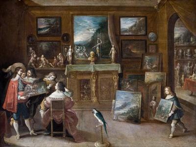 A Visit to the Art Dealer, c.1625