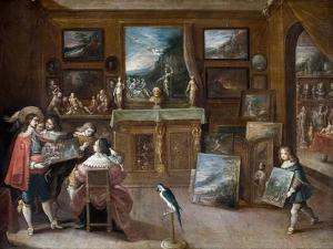A Visit to the Art Dealer, c.1625 by Frans II the Younger Francken
