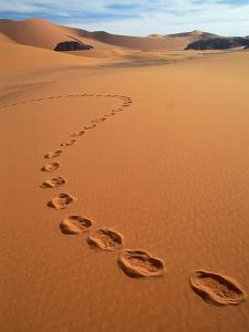 Footprints in sand by Frans Lemmens