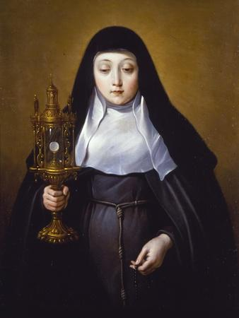 St Claire Holding a Monstrance with the Eucharist
