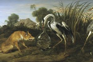 Fable of the Fox and the Heron by Frans Snyders