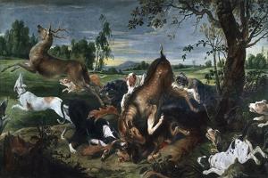 Hunting Deer by Frans Snyders