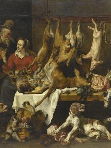 La marchande de gibier by Frans Snyders