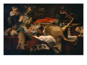 Pantry with Servant (Kitchen Scene) by Frans Snyders