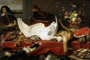 Still Life with a Swan, 1640S by Frans Snyders