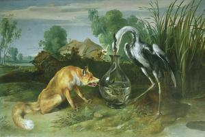 The Fox and the Crane from Aesop's Fables by Frans Snyders