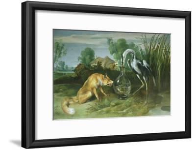 The Fox and the Crane from Aesop's Fables
