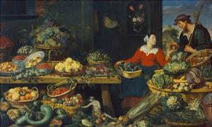 Vegetable Stall by Frans Snyders