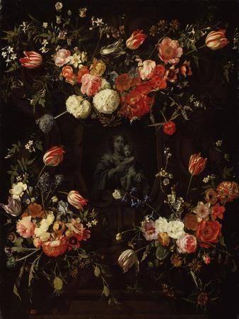 Madonna Surrounded by Flowers, 1662