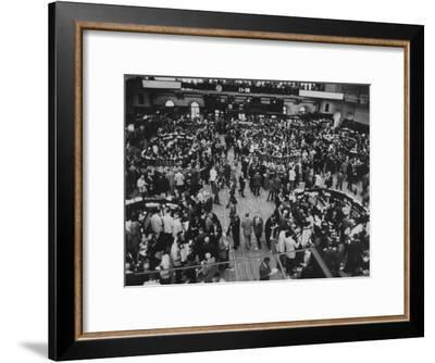Frantic Day at the New York Stock Exchange During the Market Crash-Yale Joel-Framed Premium Photographic Print