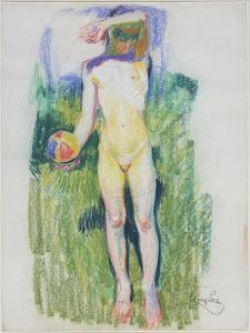 Girl with a Ball by Frantisek Kupka