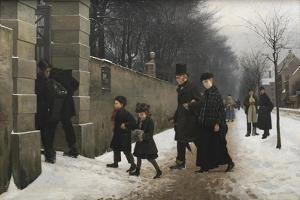 A Funeral, 1883 by Frants Henningsen