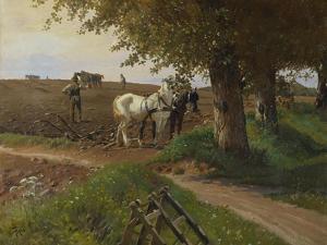 The Midday Break by Frants Henningsen